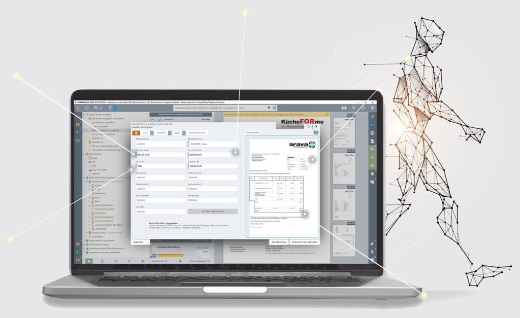 PIA AutoFill busca los datos más importantes del documento, los lee de forma inteligente y luego los indexa de forma totalmente automática.